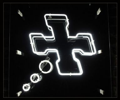 Cross and Circles Neon Sign